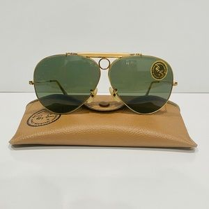Vintage Ray Ban 1/30 10K GO bullet sunglasses